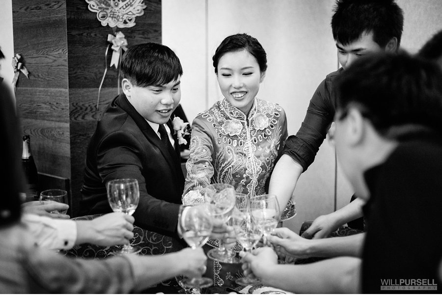 Cheers during Chinese wedding
