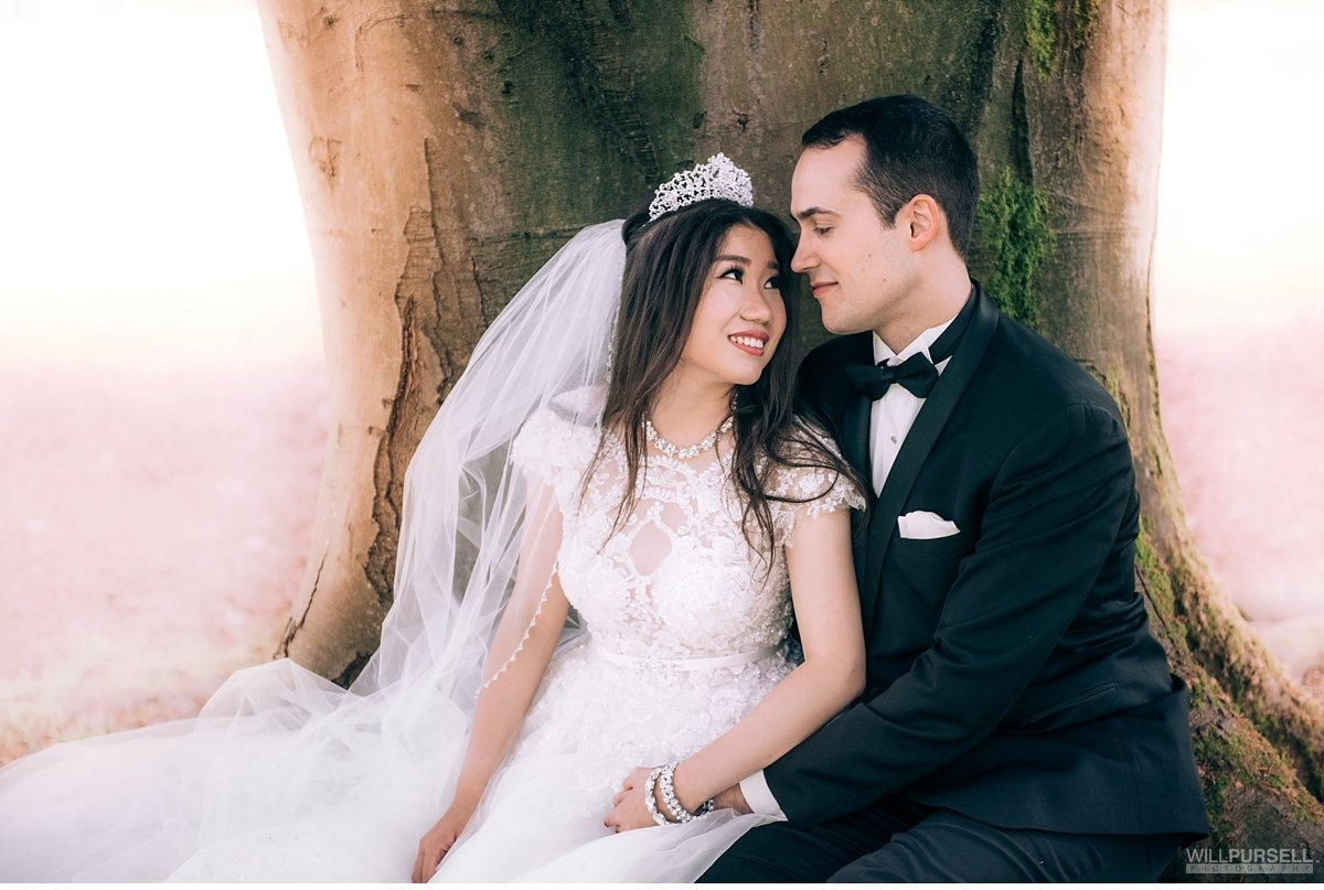 Stanley Park wedding portrait