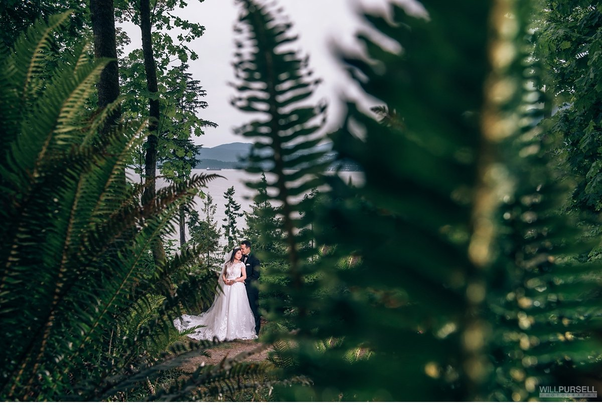 nature wedding photo in Stanley Park