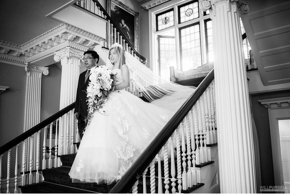 bride walking down aisle in Hycroft