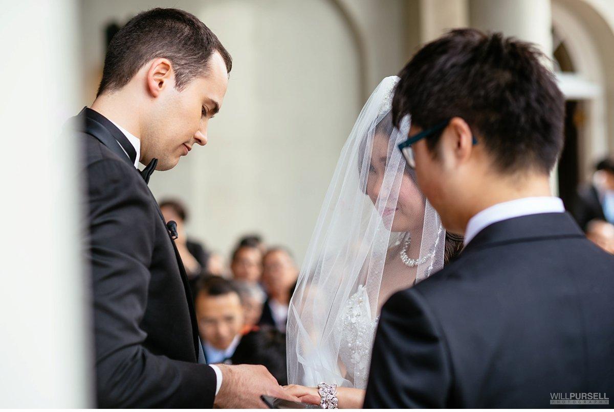 exchange of rings on wedding