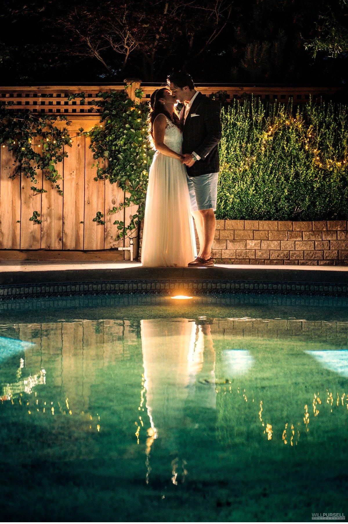 house wedding pool