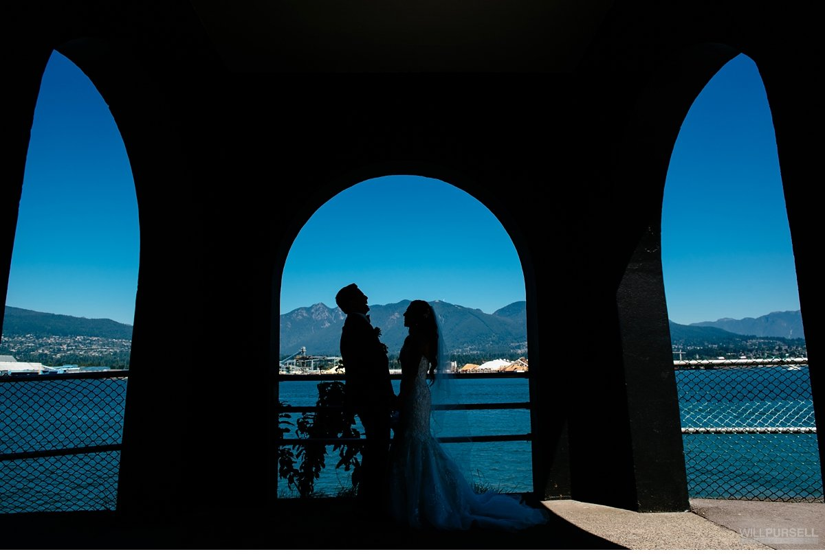 Vancouver mountains wedding