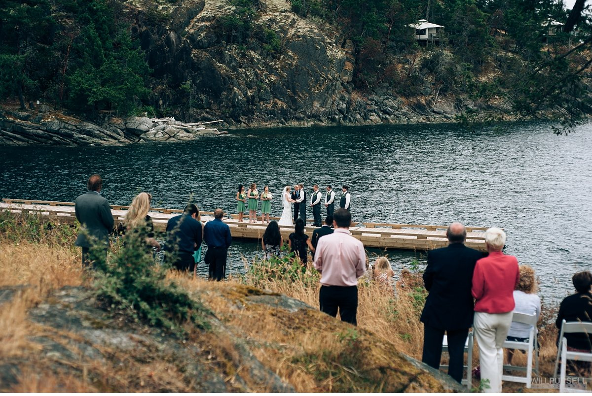 rockwater cove dock ceremony