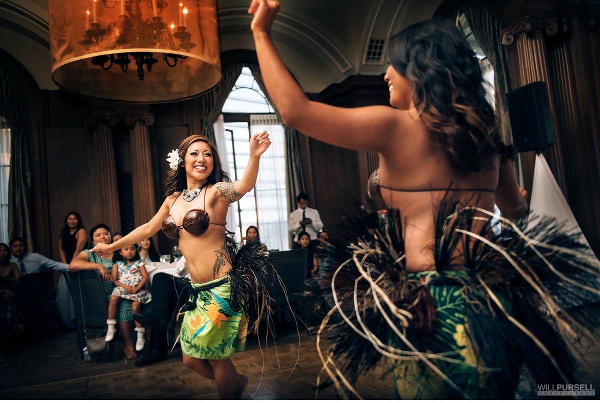 Polynesian dance wedding