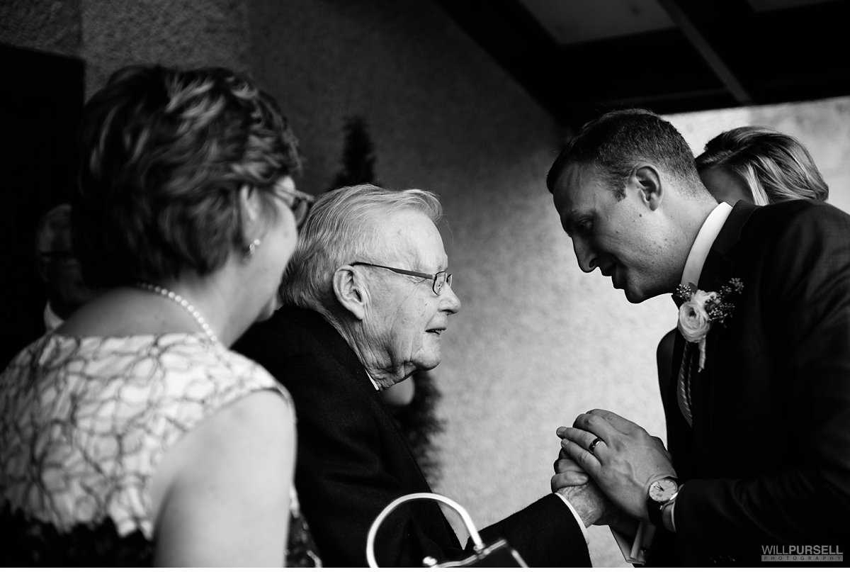 grandpa candid wedding photo