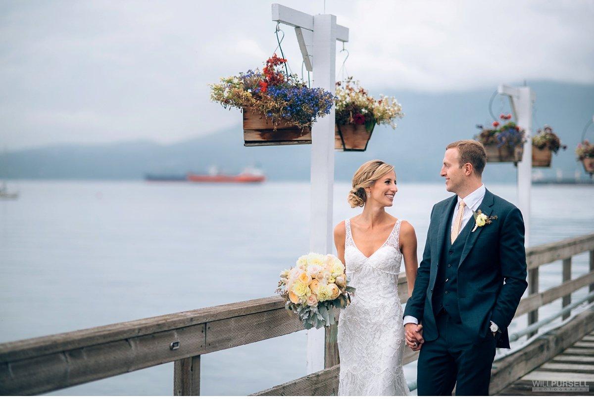 Vancouver Yacht Club wedding pier