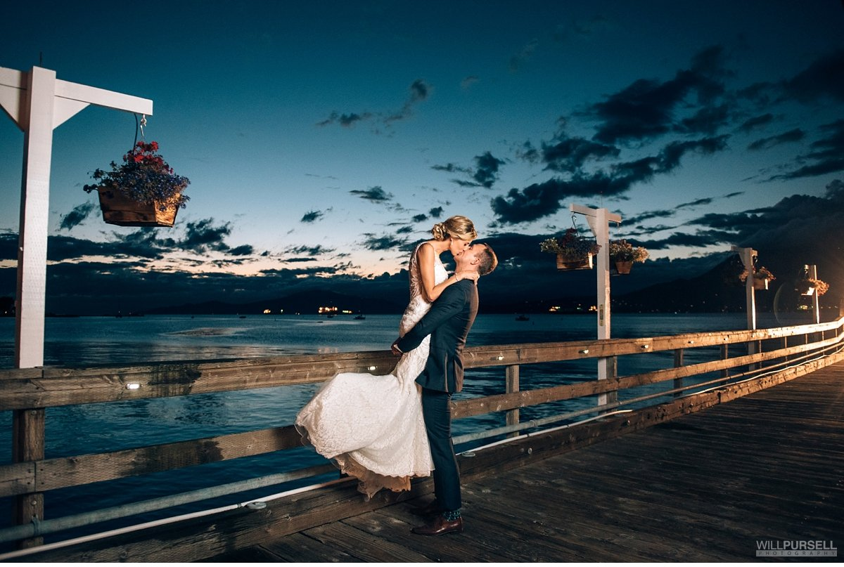 Yacht Club wedding pier