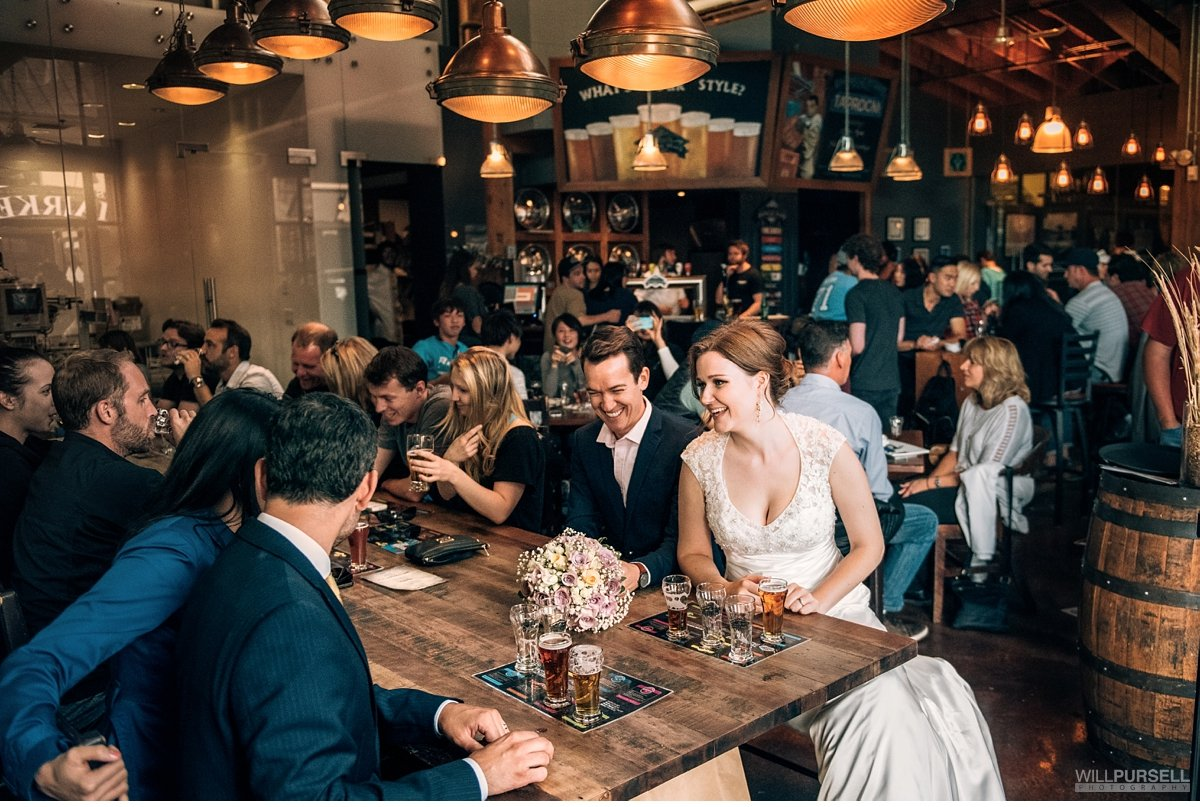 granville island brewery wedding