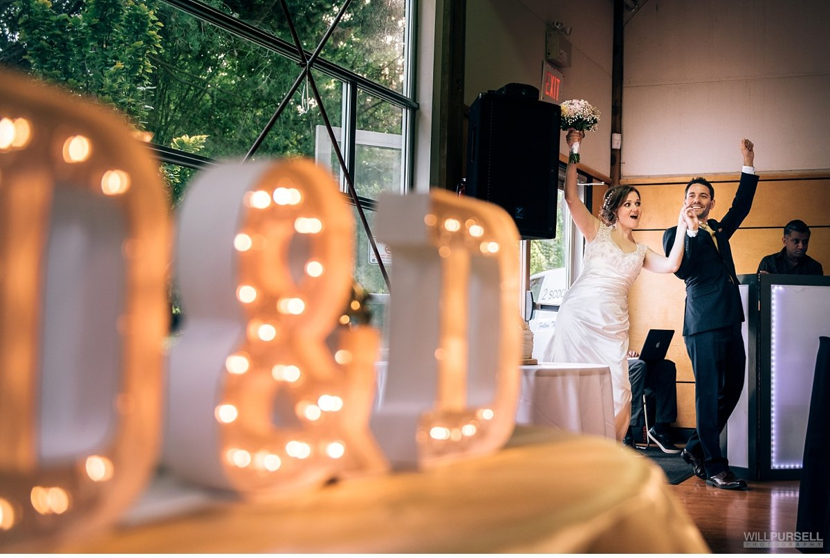 False Creek Community Centre wedding