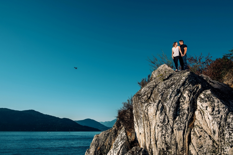 whytecliff park engagement photo