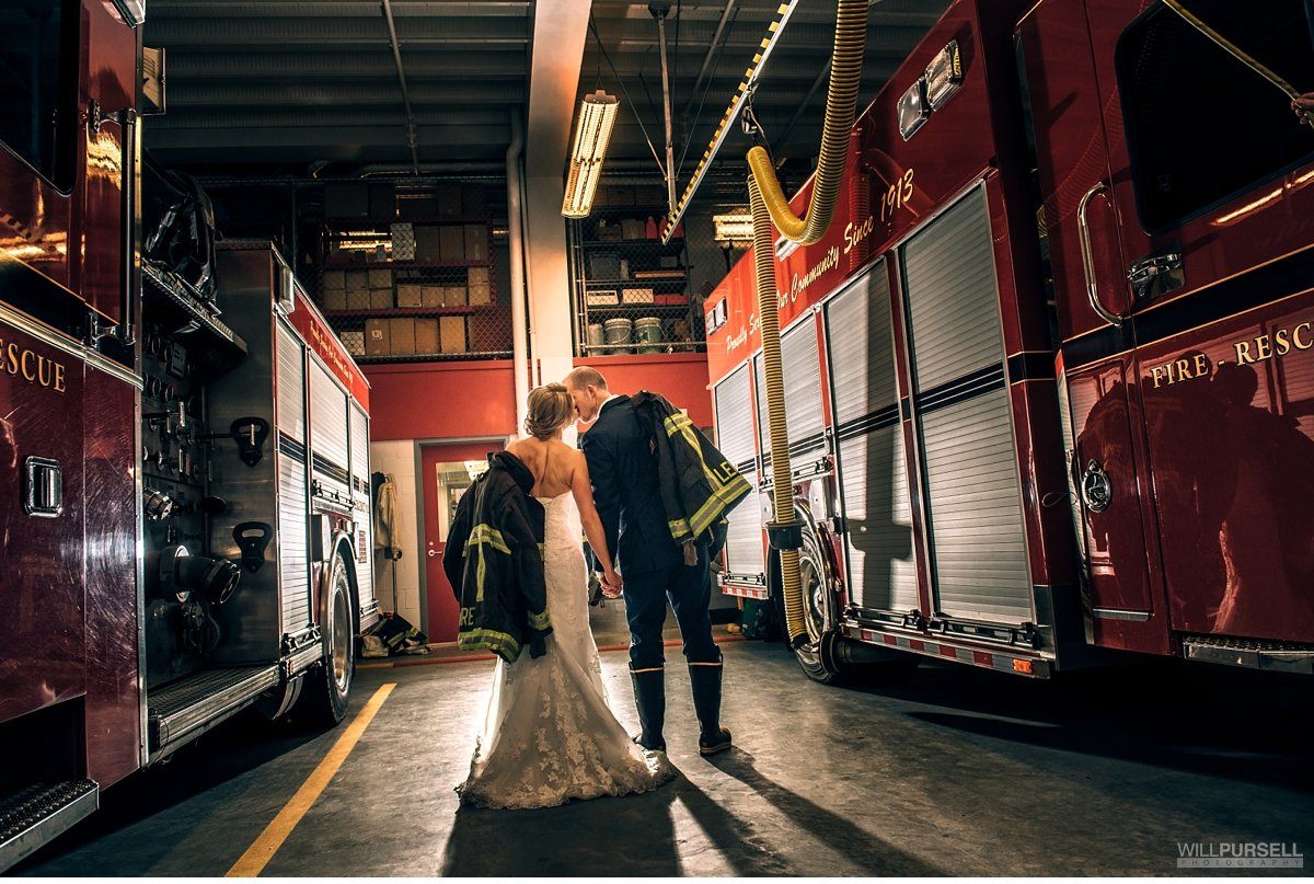 firefighter wedding photos
