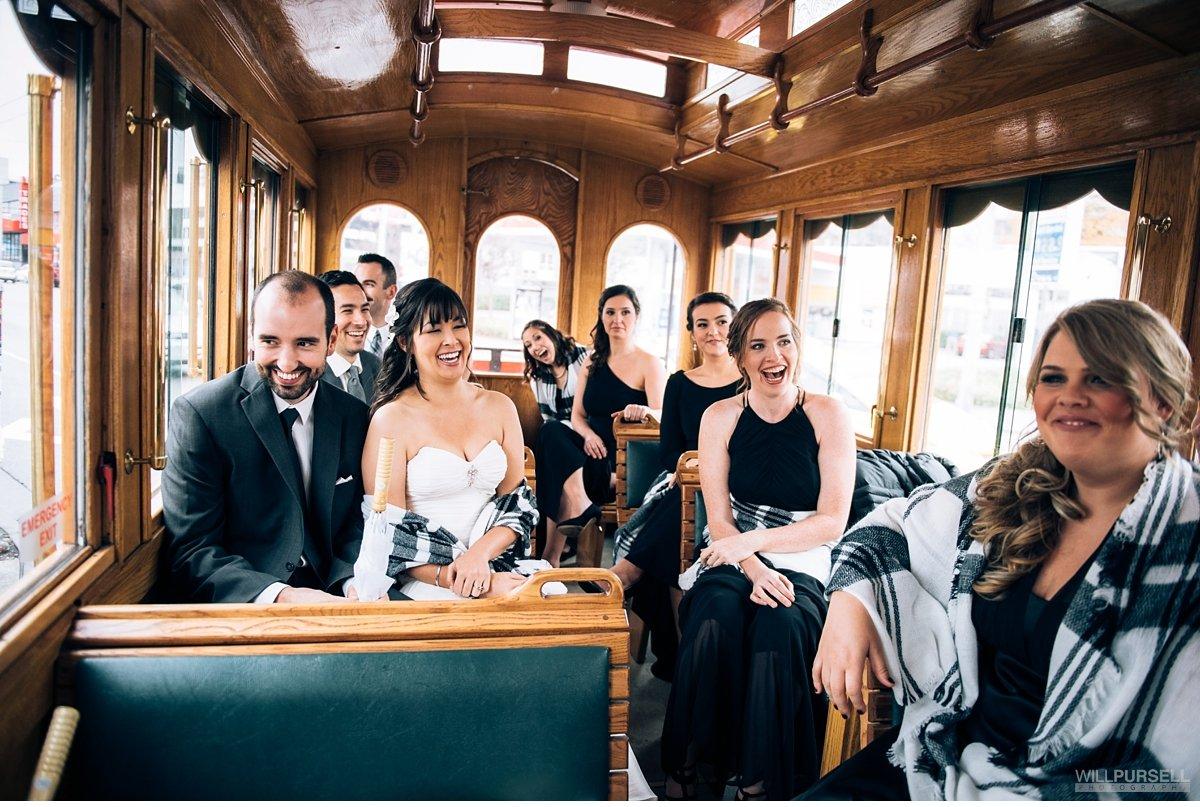 trolley vancouver wedding