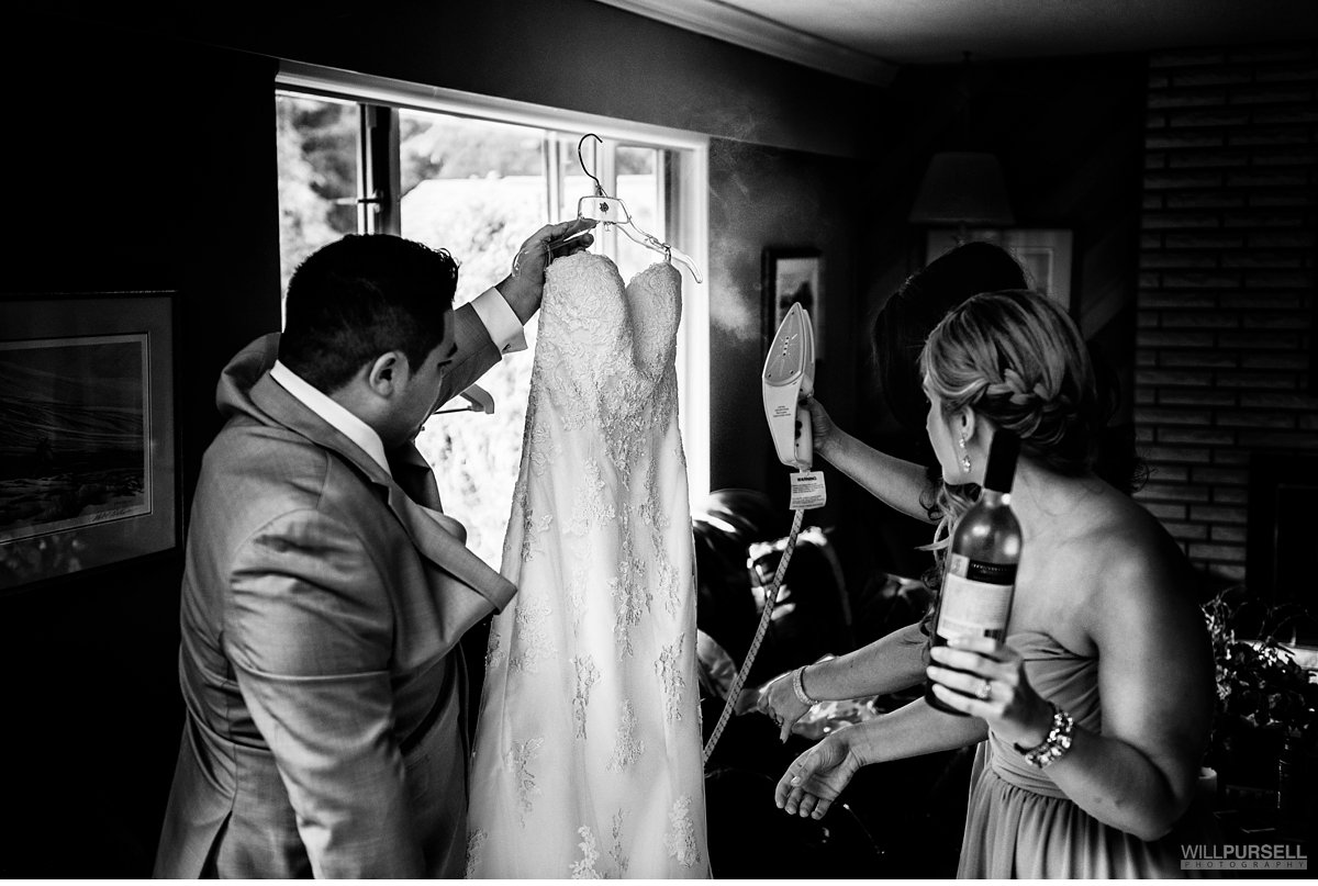 bride getting ready vancouver