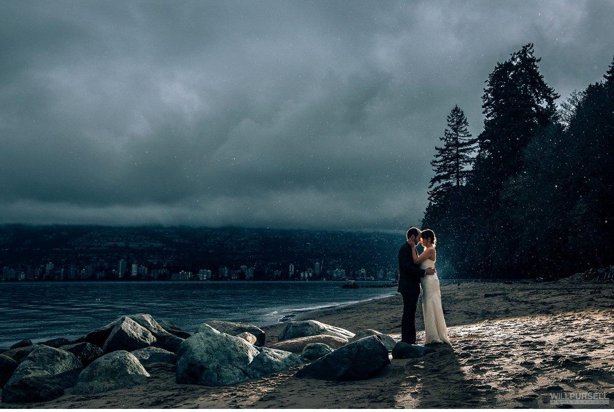 beach wedding stanley park