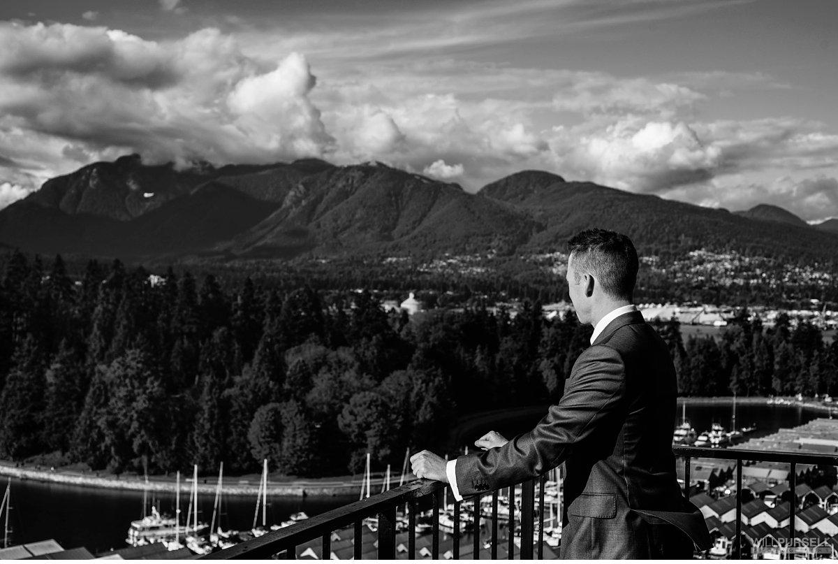 westin hotel wedding groom