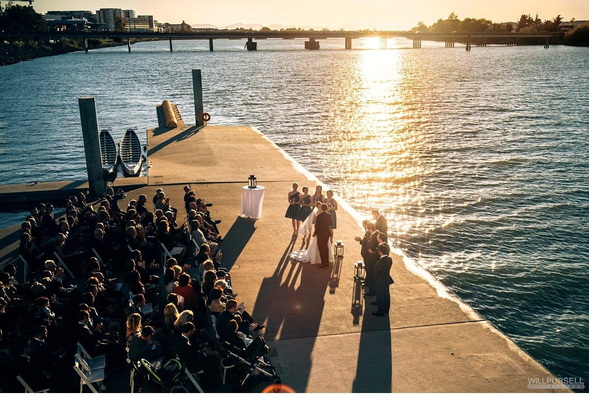 ubc boathouse wedding ceremony