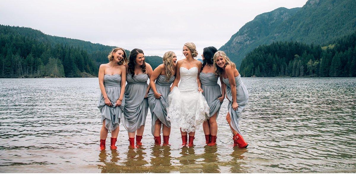 buntzen lake wedding bridesmaids