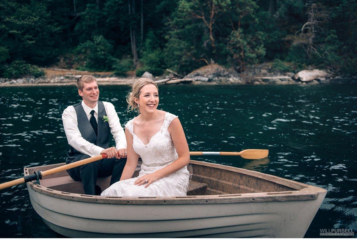 rockwater wedding boat photo