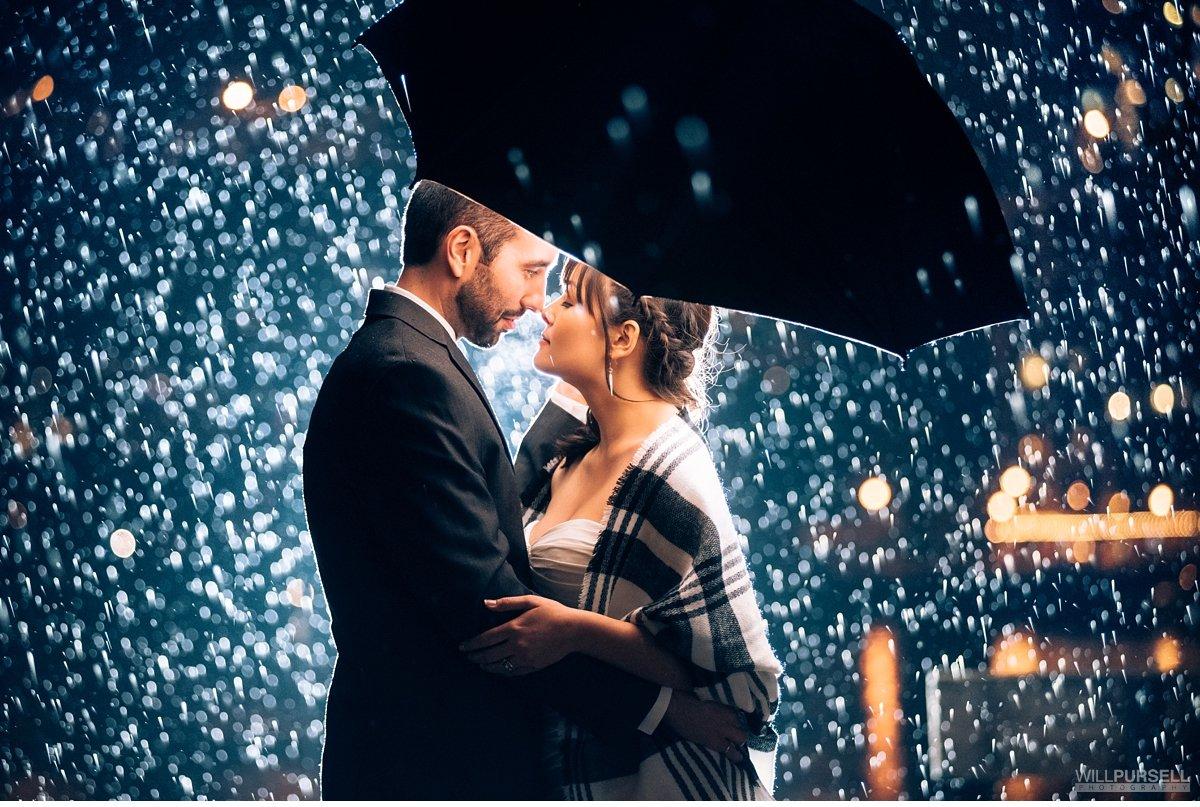 vancouver wedding rain photo