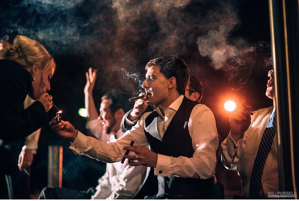 vancouver wedding cigar smoking