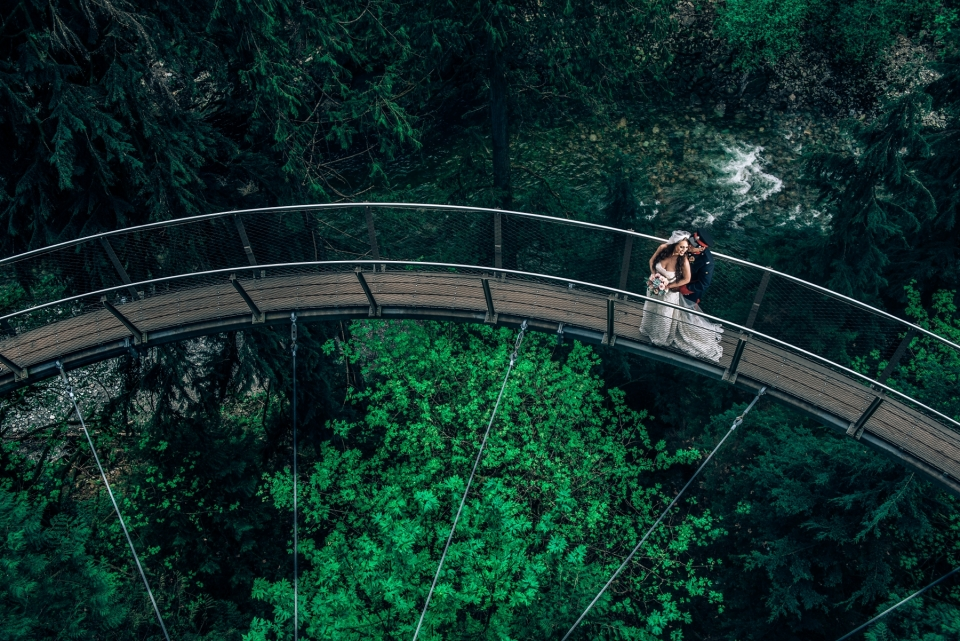 capilano suspension bridge wedding