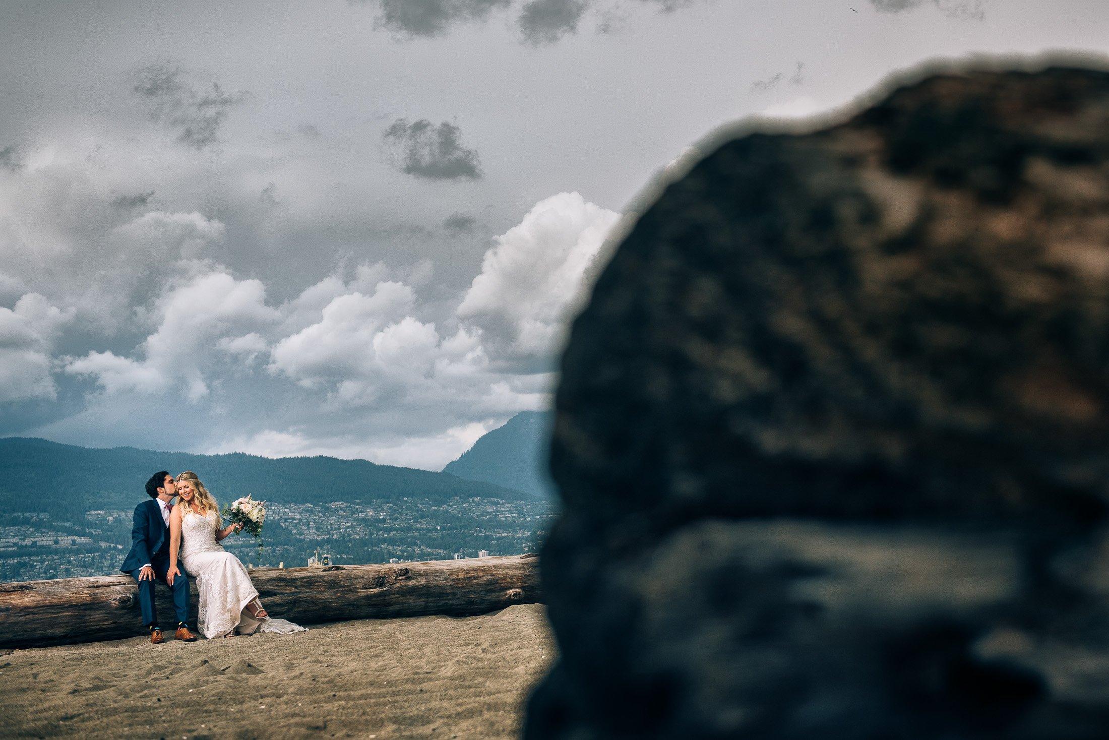 jericho beach mountain wedding photos