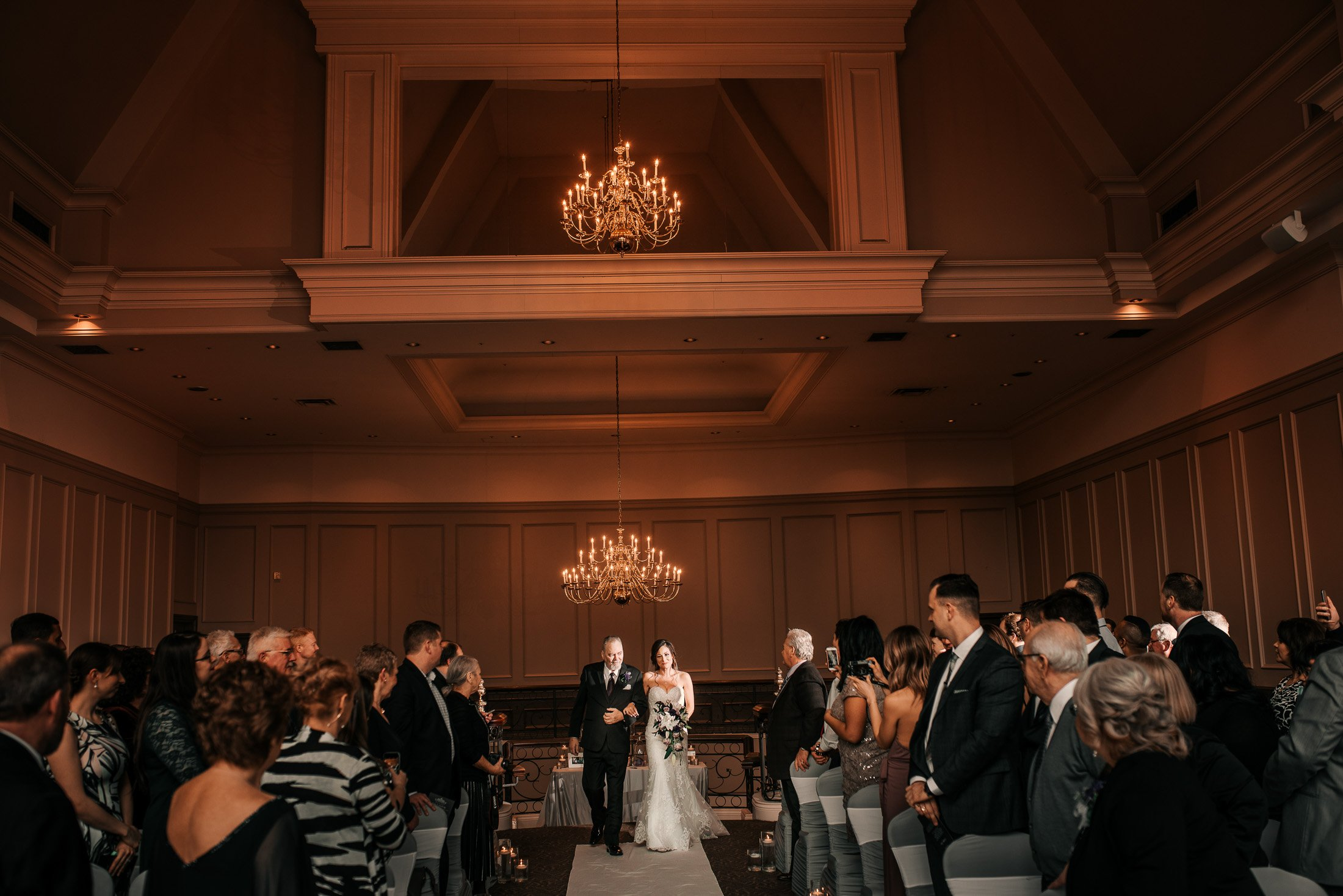 Indoor Wedding Ceremony: Swaneset Golf Course Wedding Photos