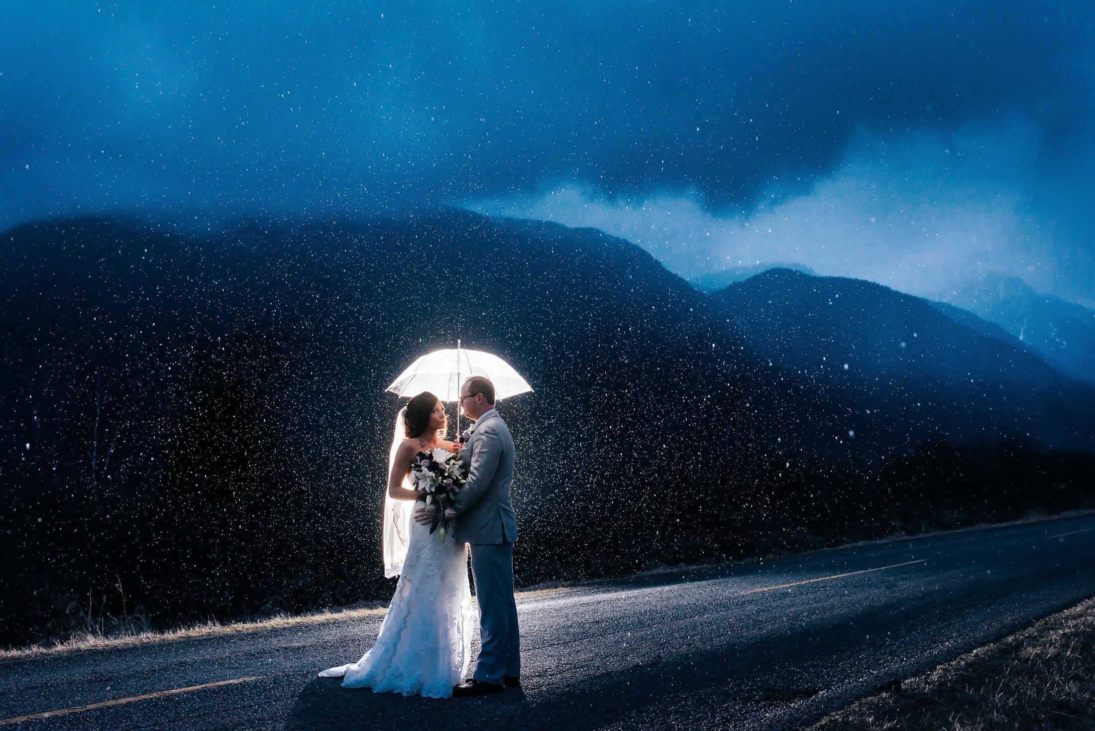 wedding photos in rain
