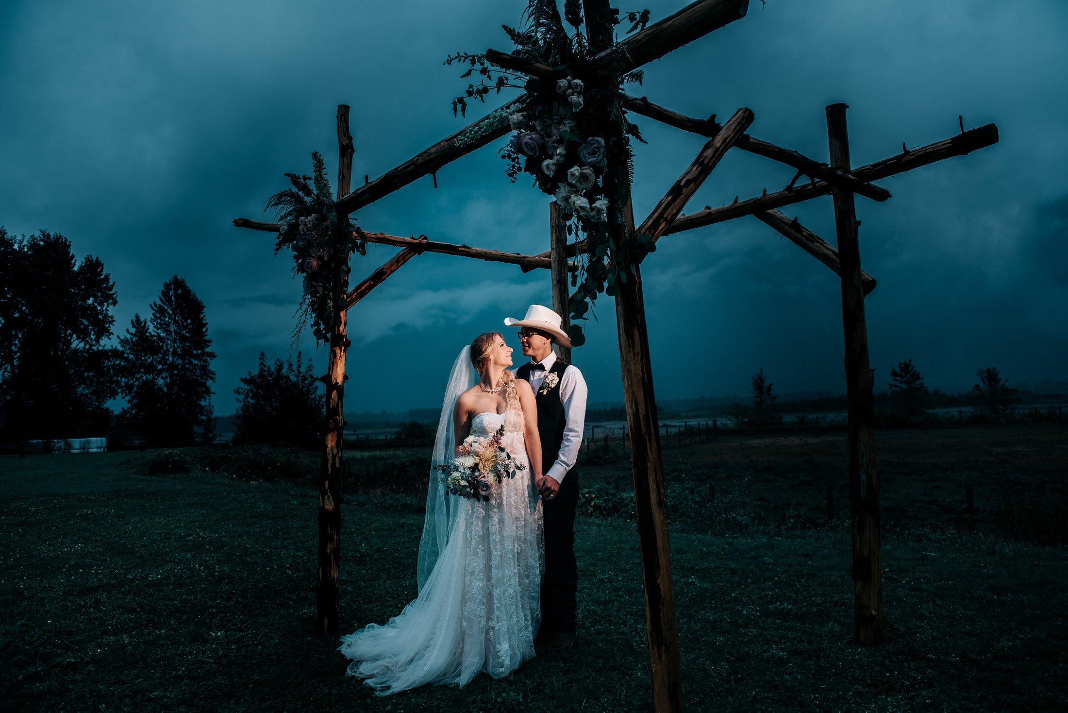 012 dramatic wedding photo fraser river
