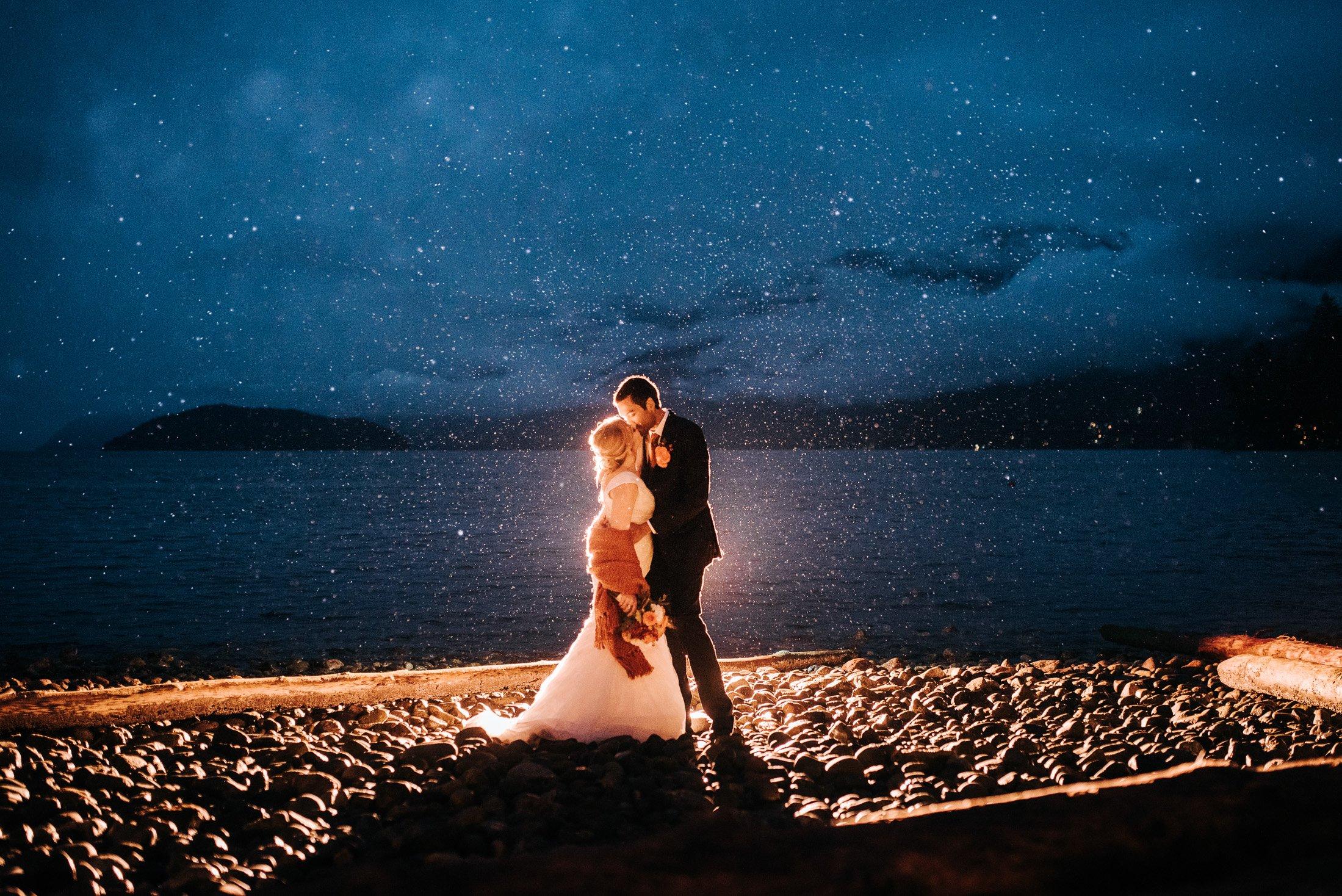 rain water wedding photos