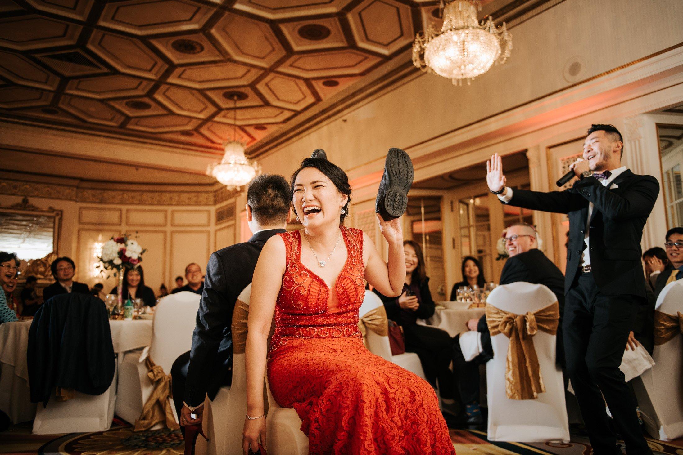 shoe games Fairmont Hotel Vancouver Wedding