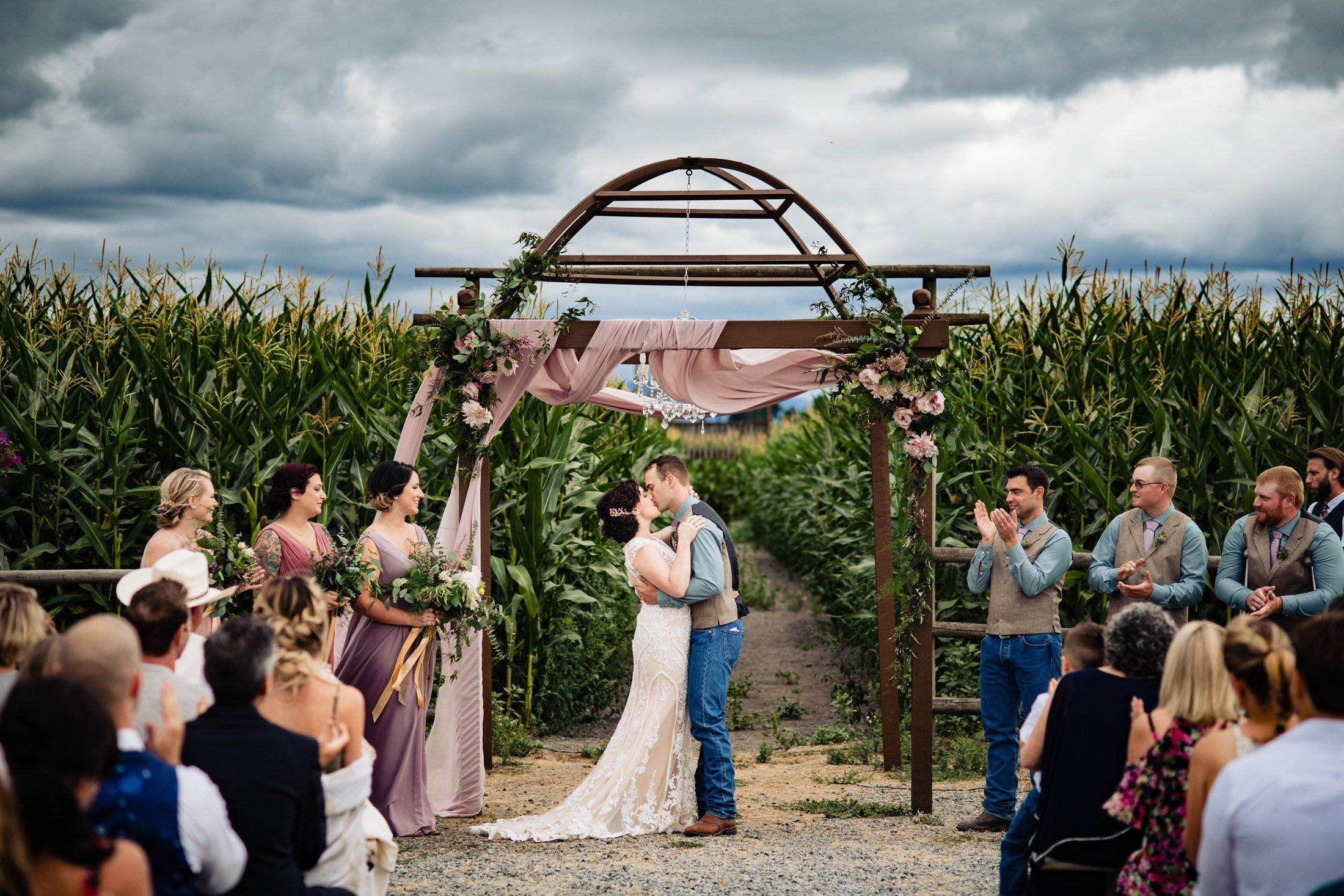 010 - outdoor ceremony in corn feild vancouver