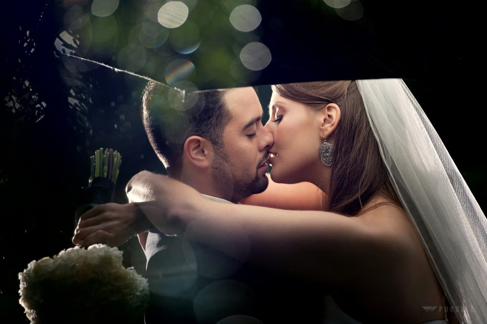 romantic rain wedding