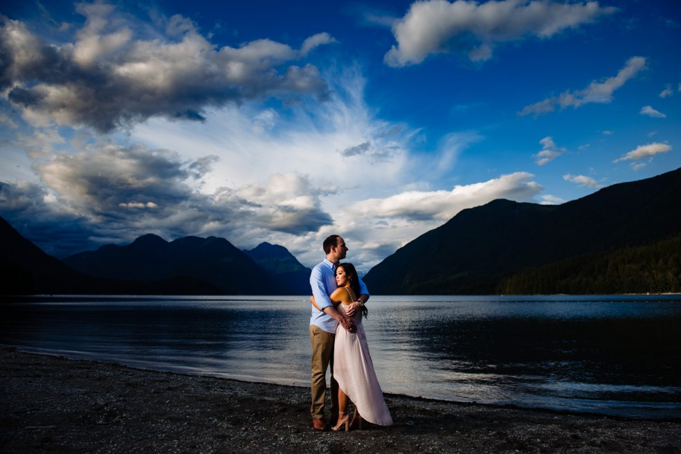 015 - mountain lake engagement photography