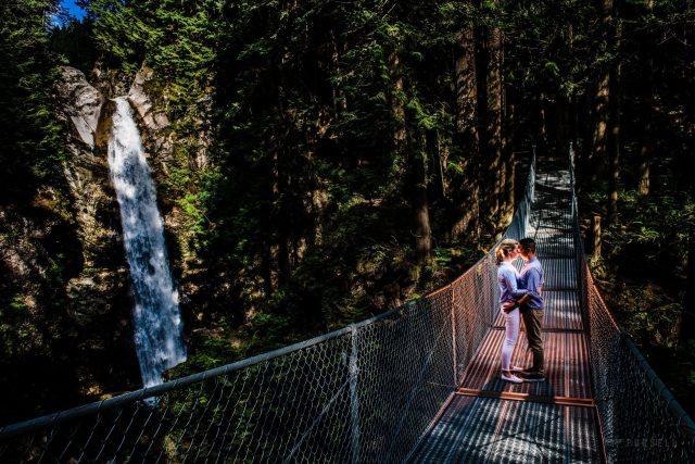 037 - suspension bridge engagement photos british columbia