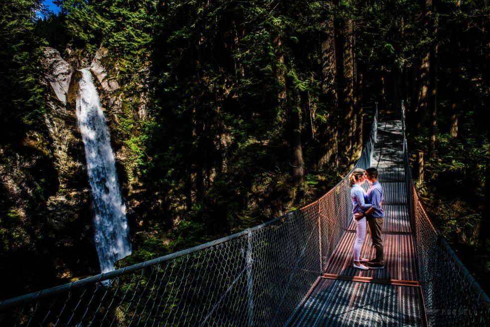 037 - suspension bridge engagement photos british columbia