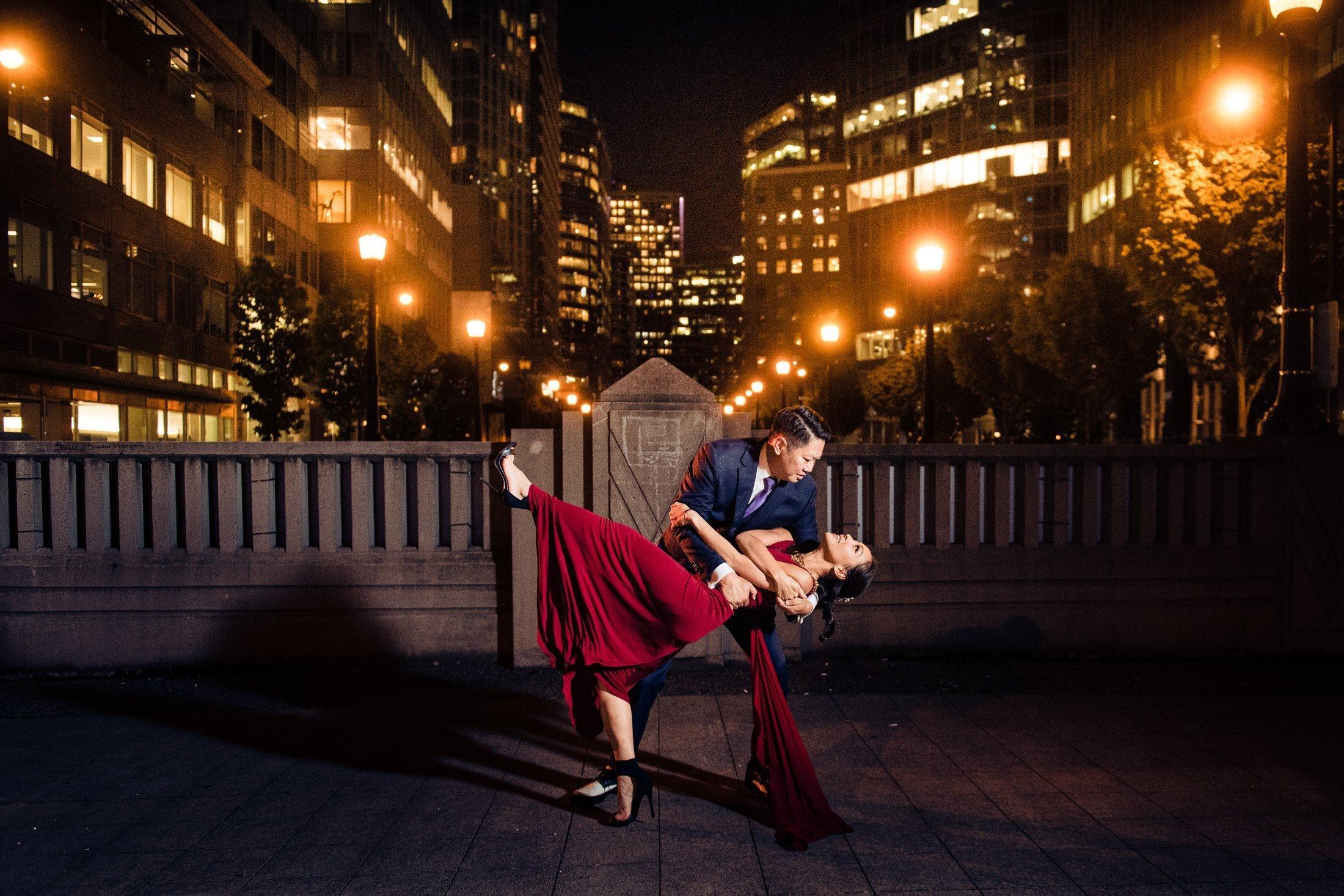 036 - night city wedding photos vancouver