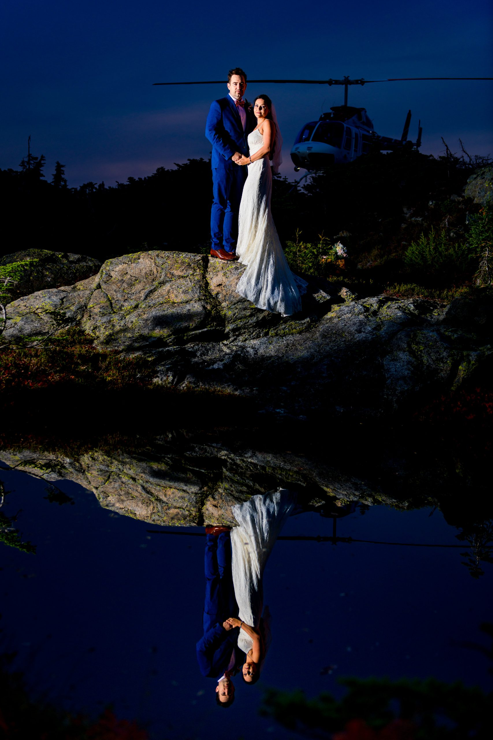 014 - night heli tour wedding
