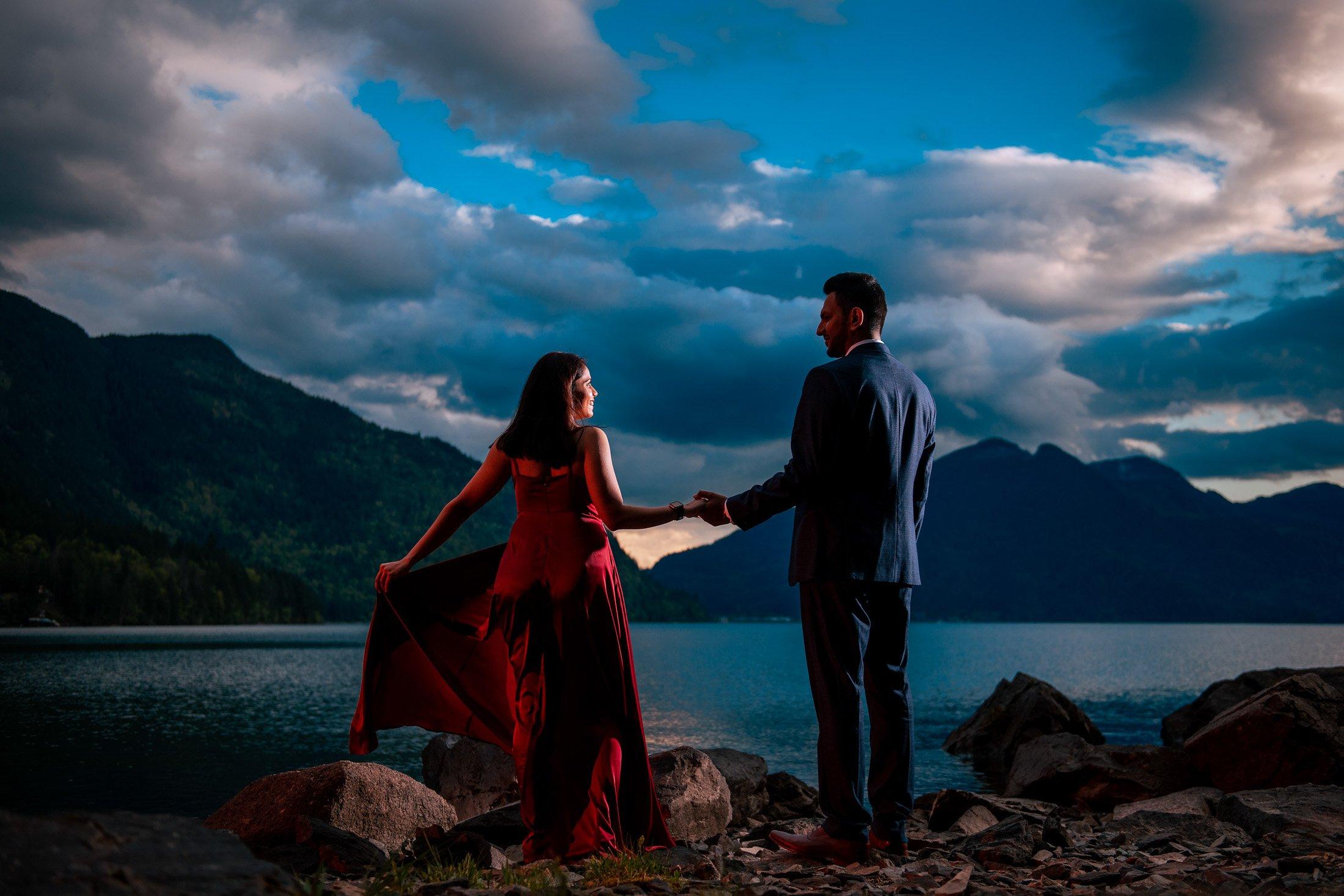 017 - harrison lake elopement photography