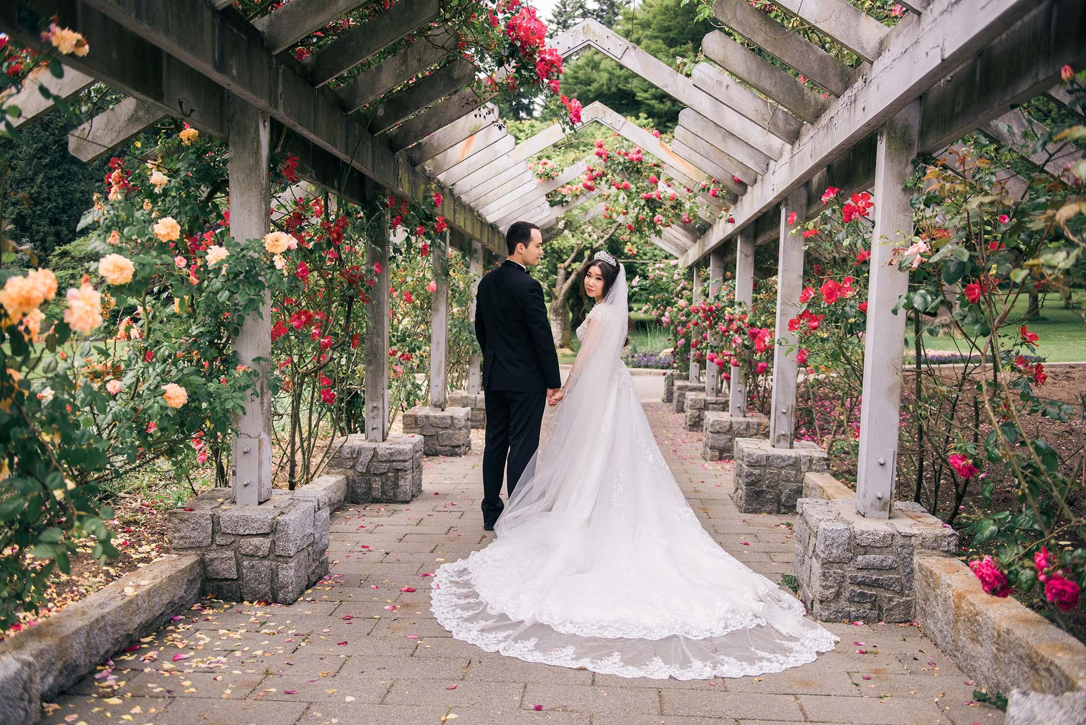 Stanley park rose garden wedding